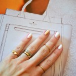 Chic Spring Manicure Color Combo : White + Gold