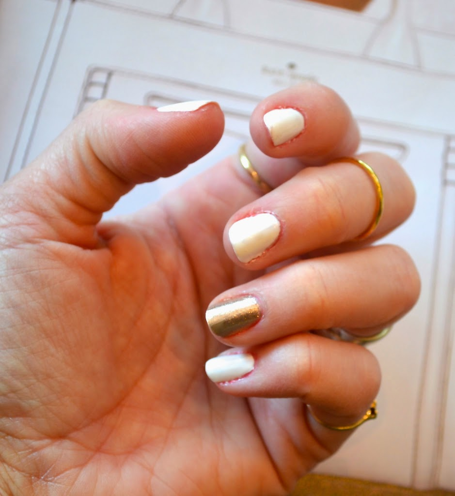 Chic Spring Manicure Color Combo White Gold Jennysue Makeup