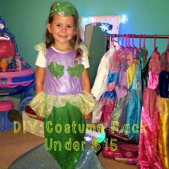 Diy little girl dress up rack for under 15 jennysue makeup diy little girl dress up rack for under 15 solutioingenieria Gallery