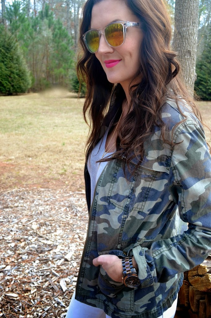 how to make camouflage look girly chic