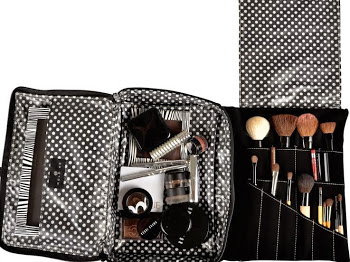 The Hold Me Bag - the everyday makeup bag for home and for travel.
