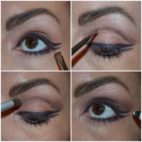 how to create  a double cat eye
