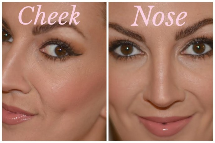 how to contour the nose and cheekbones with NYX contour palette