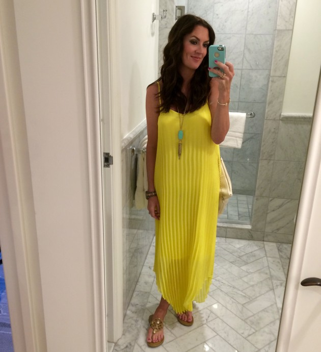 affordable yellow maxi dress from macy's