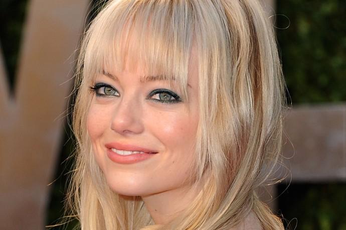 how to wear green eyeshadow emma stone