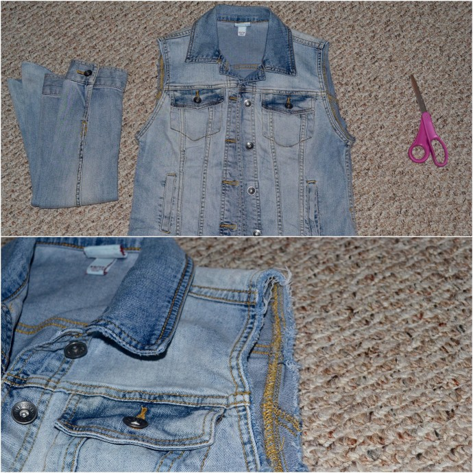 how to make your own denim vest