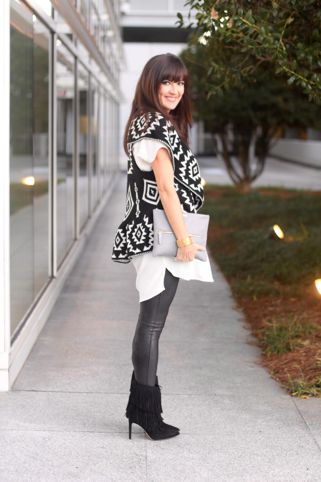 Printed Sweater Leggings