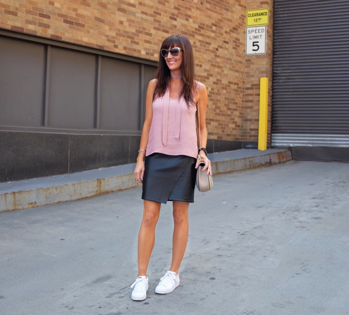 blush_pink_top_leather_skirt_adidas_nyfw