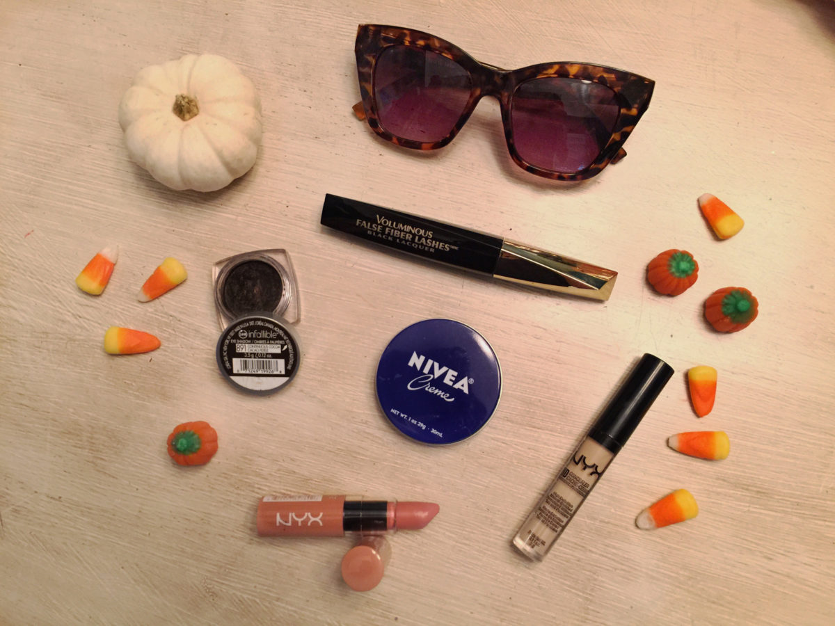 JennySue Makeup blog by Jennifer Duvall, beauty blogger, pinterest beauty products under $10, best budget makeup, Forever 21 sunglasses, L'oreal best makeup and mascara, NYX butter lipstick, NYX concealer
