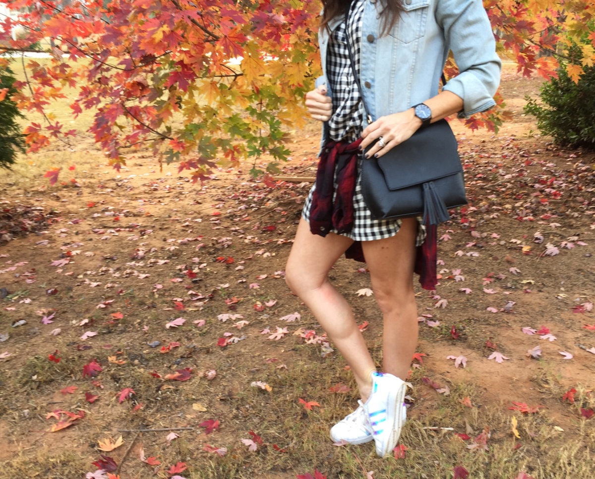 mixing-plaids-old-navy-dresses-adidas-superstars