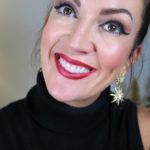 Fun & Easy Holiday Red Glitter Lip Tutorial