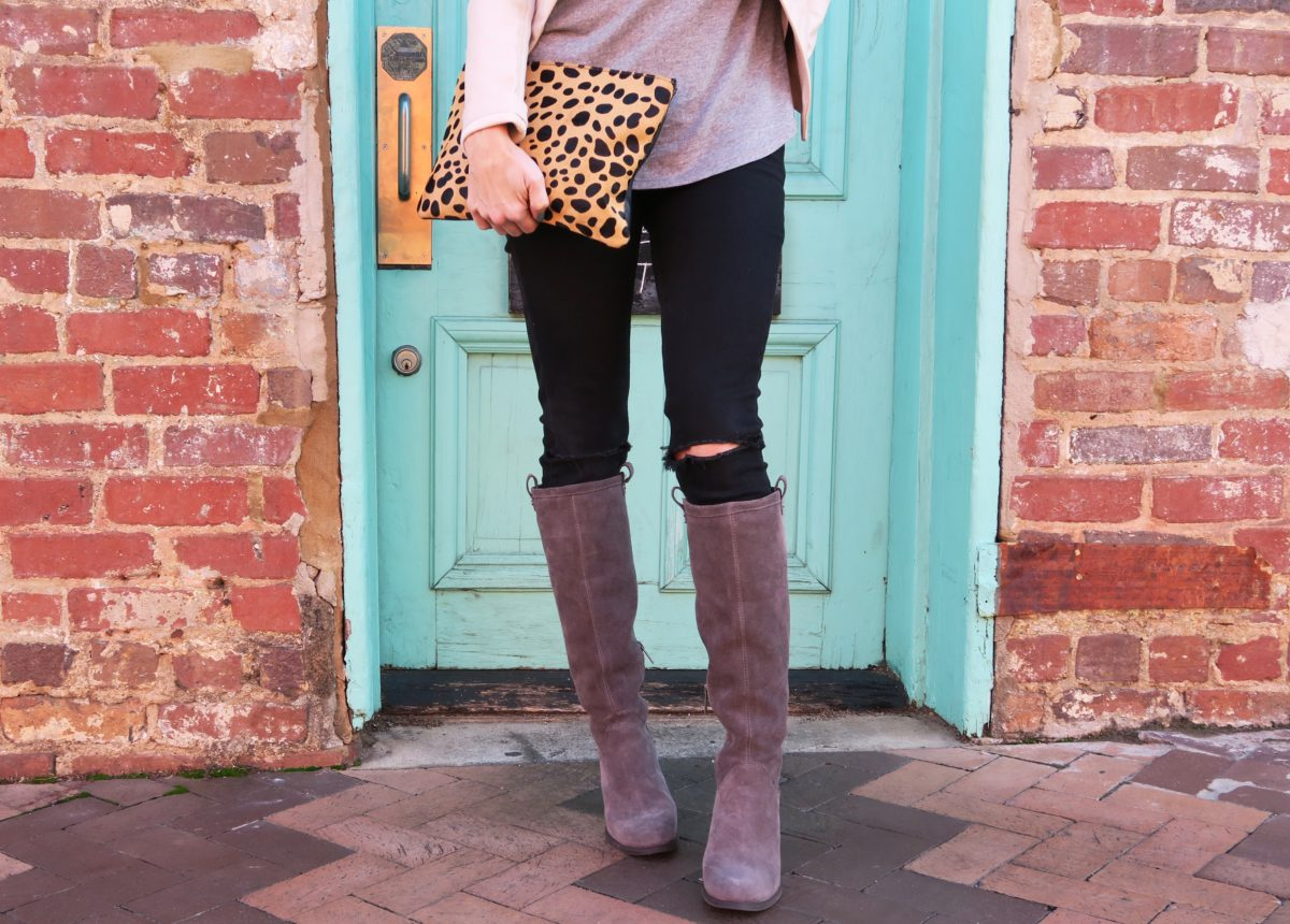 leopard print clutch Ugg Ava boots