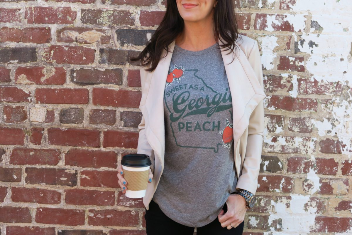 pretty as a Georgia peach Athens GA graphic tees