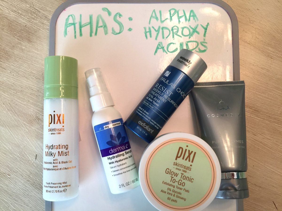 AHA's anti-aging ingredients in your beuaty routine