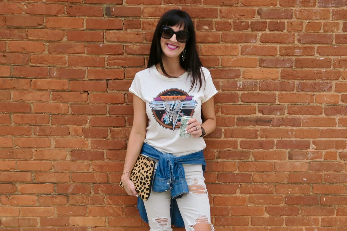 how to make a tee shirt + jeans look cool over 40 re