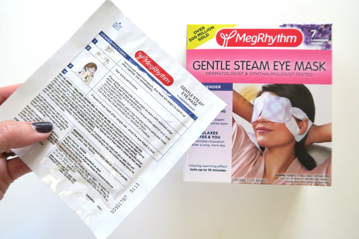 Redbook Red Beauty Box review 2017 MegRhythm steam eye mask RT