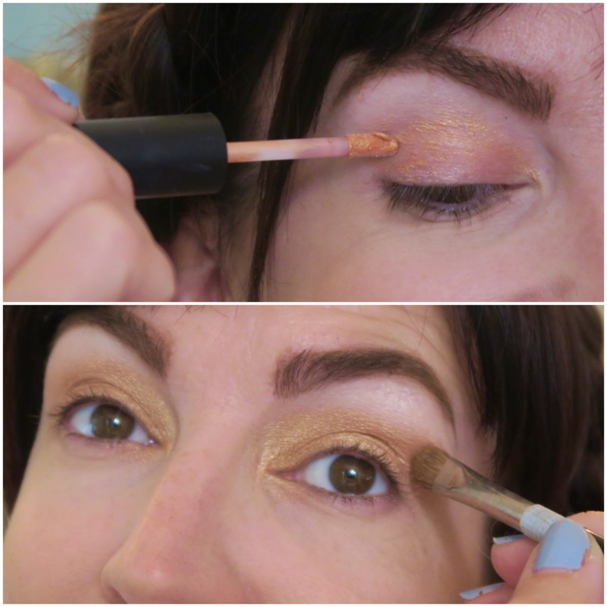 fall eye makeup ideas golden eyes