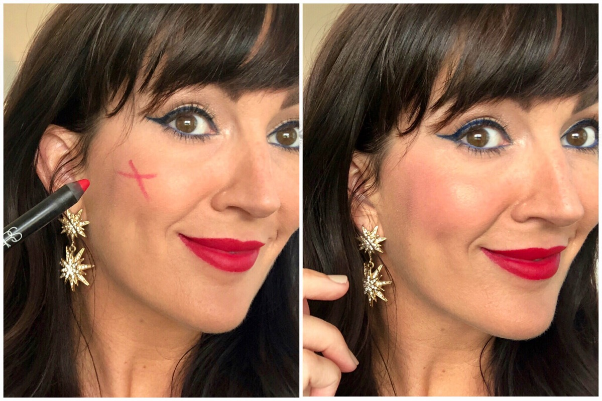 fourth of july makeup looks red lipstick nars