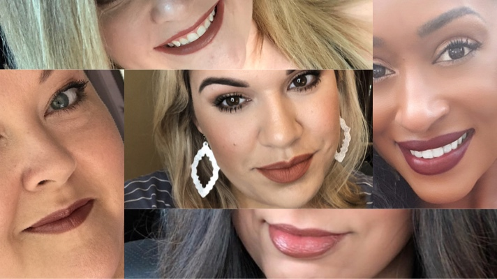 5 Women Share A Selfie Wearing Their Favorite Brown Lipstick Shades