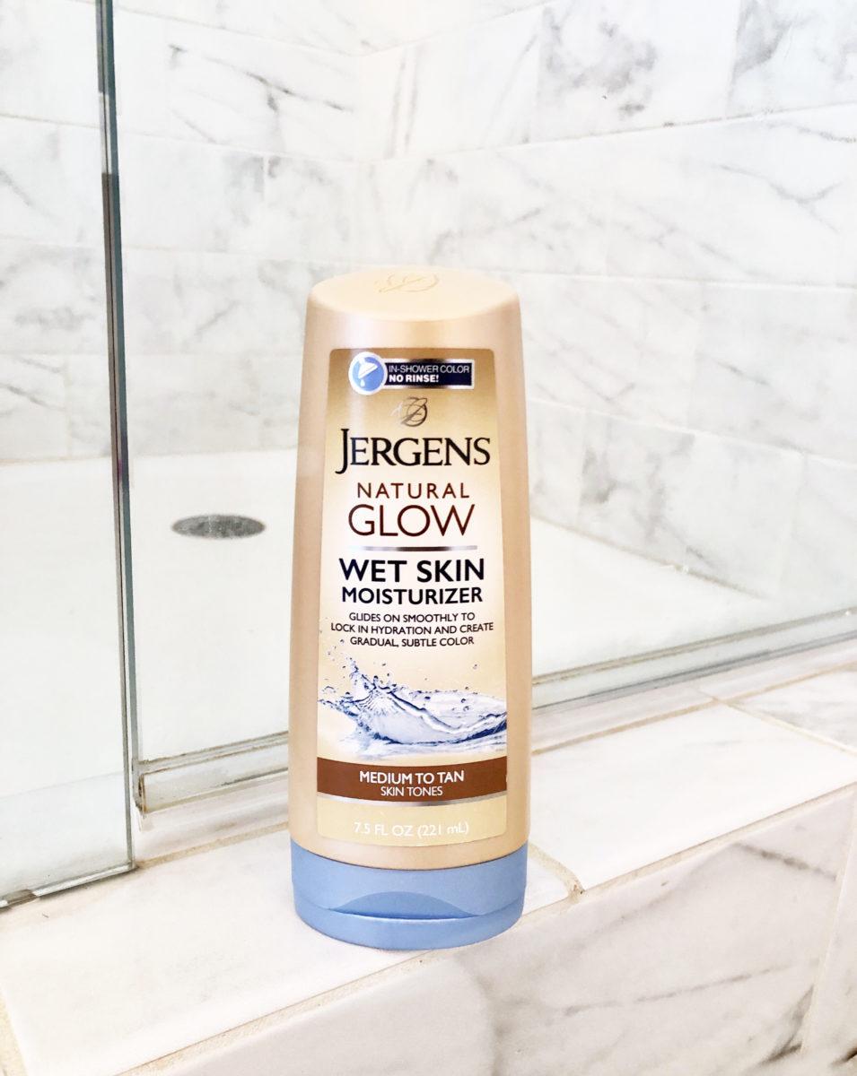 summer skin Jergens natural glow wet skin moisturizer