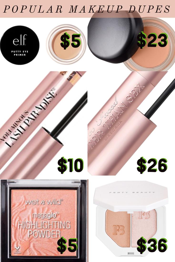 makeup dupes 2021